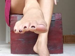 My perfect Goddess feet. I know you want to worship them!!!