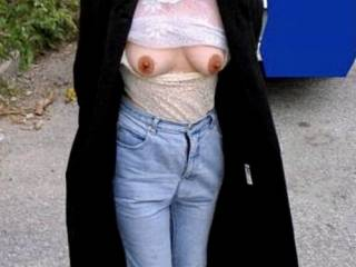 I had been making out with a guy in the car and my tits were soaking wet from him sucking and licking them, so I took them out for a walk to dry them off. Would you like to suck my tits?