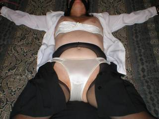 Stripping the wife and making her cum....