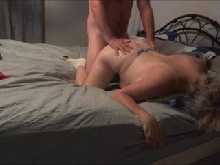 nice doggy fuck with a cumshot on her back
