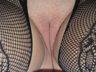 C\'s nearly shaven pussy, ready for action