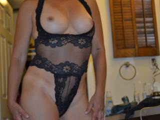 this lingerie or the other see-through black slip?