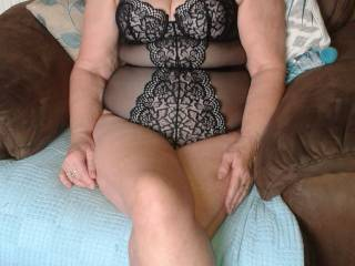 David has bought me this new lingerie for me to pose in...do you like it?