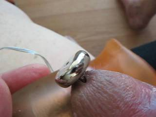 Trying out some metal inside my cute little cock