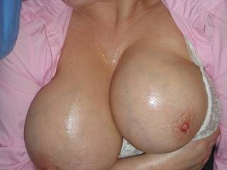 Love those big, beautiful tits!  In case you are looking for another hard cock to suck I am happy to help out in anyway I can!! ;-)