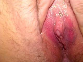 Nice....love the juicy, pink pussy! Great shot of her clit!!! Super hot guys!!!