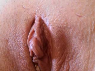 My pussy just after a five minute orgasm that included Sounding me. I came so hard that I squirted all over. How does my pussy look?