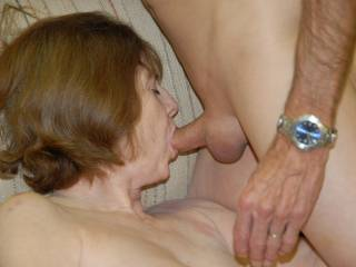 His wife sucking my cock while he take photos