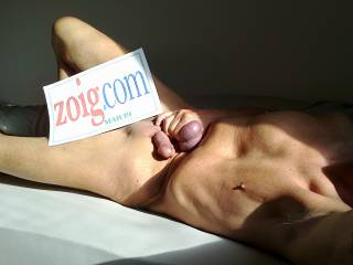 """For Zoig's March19 """"monthly theme"""", i do my porny porn·art body-posing on one of my Couch-beds (plank-beds), because i don't possess a classical sofa-couch. Text-sheet printed and photo taken on March 21, 2019; as always, raw & unworked pictures."""