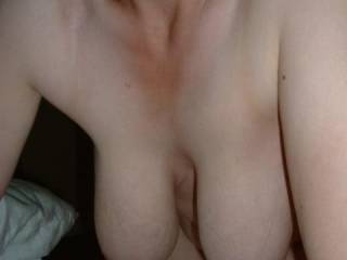 Beautiful hangers. I'd love to have you rub them over my face and suck the lovely nipples.