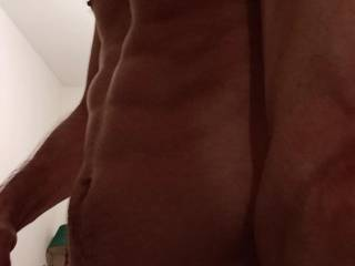 Showing off my muscular body