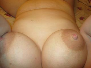 I took this photo myself so y\'all could see my big milk filled tits. Do you guys like how big and firm my tits look?