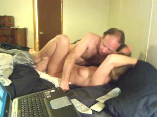 This guy is a lucky man to get to fuck your sweet snatch! U r a wild fuckin honey takin his dick like this! Love it!