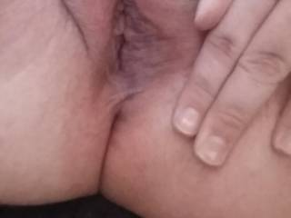 I will part those lips with my thick cock...after I have brought you to orgasm with my mouth and fingers, that is.  ;-)