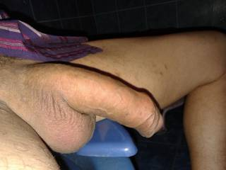 uncut cock. pull my foreskin