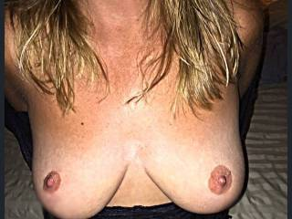 Wife\'s beautiful breasts