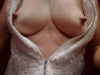 Went shopping and felt the need to expose my tits - fun in the change room!