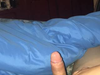 Hard cock before bed