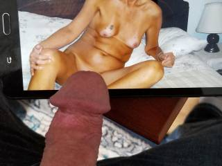 I had to get my cock out for Kelly the sexy naked body and tanlines