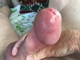 Caught in the act and leaking precum!