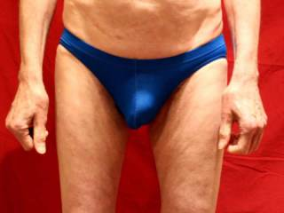 These blue undies are rather snug !