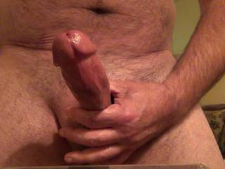 A front view of my cock, in my new apartment, all those years ago....
