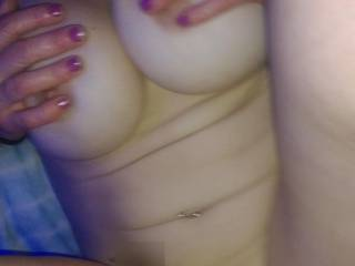 She squeezes her tits together as she takes every last inch of my cock harder and faster until I come all over her tits and face