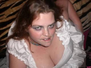 love seeing cum on this slut's face