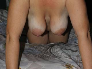 Wife\'s saggy tits
