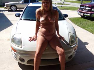 Even better. What do your neighbors have to say. I would love to see you sitting on the car that way