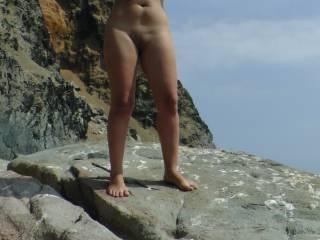 At the nudist  beach 2
