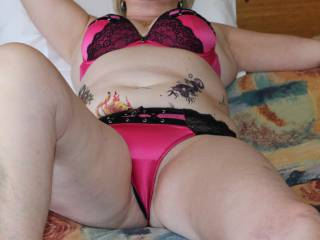 Playboy Lingerie - relaxing after a long shoot I imagine the next shoot will be hubbys creamy load
