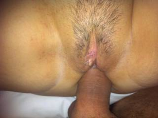 Love how his cock feels in my sexy tight ass
