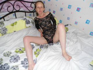 Joanne showing off her new lingerie