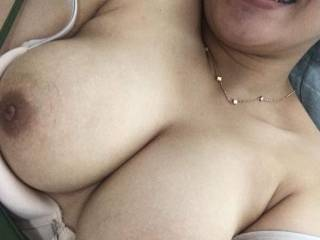 Oops my bra's too small for my big boobs