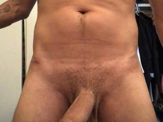 Just hanging around. Thinking about stuffing the Mrs lil pussy and mouth.