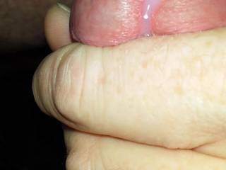Stoked my cock a little too much and out cums the pre-cum looking at all you hot Zoig girls!