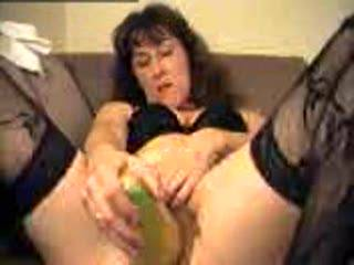 Filling my pussy with a thick cuke #2