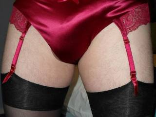 seen lots of cocks in panties on here thought i\'d try out the wifes do they suit me.