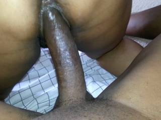 Mmmmm, I'd enjoy having that gorgeous thick black cock probing my depths.....all of them.  MILF K