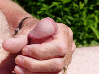I guess it was inevitable that being naked in the garden would end up with me masturbating...