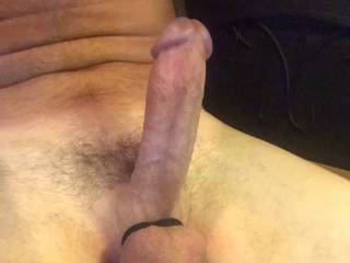 I tied up my balls to enjoy a good stroking session while on Zoig video chat and took this pic for a friend.