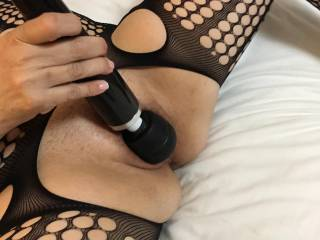 My wife using one of her toys to orgasm so hard and wett