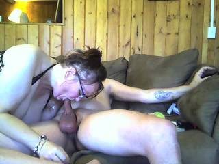 sexy beautiful wife sucking my cock !!