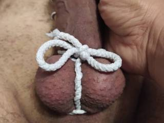 Wifey\'s first involvement in cock bondage 2