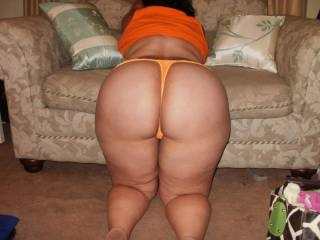 gorgeous and delicious ass and thighs too!  I;d kiss and nibble up them ,, squeeze and spank those sweet cheeks, then spread them and enjoy takuing you from behind ... what a TREAT you'd be !!