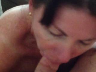 "Wife says, ""Love to suck your cock while I ride my dildo.""