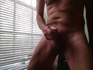 Lots of cock pumping here while watching a hot video and thinking of the people who will be watching me. Hang around for a juicy cum ending. It sure felt good!