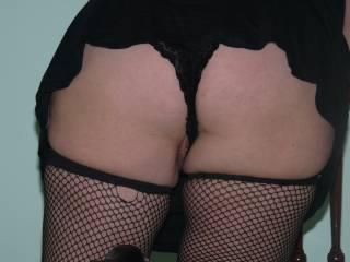 I have been asked to show more of me in fishnets and black.