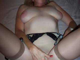 Kathie getting her pussy all wet for you